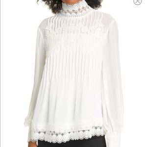 NWT Ted Baker Cailley Lace Victorian Blouse Sz 3